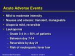 acute adverse events