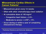 mitoxantrone cardiac effects in cancer patients