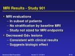mri results study 901