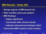 mri results study 902
