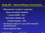 study 901 clinical efficacy conclusions