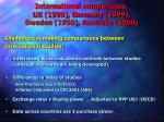 international comparisons uk 1999 germany 1999 sweden 1998 australia 2000
