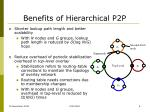 benefits of hierarchical p2p
