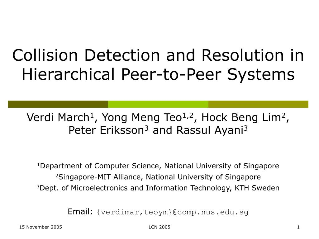 collision detection and resolution in hierarchical peer to peer systems l.