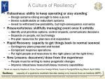 a culture of resiliency