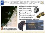 global navigation satellite system gnss new applications introduced every day