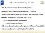 homeland security factors