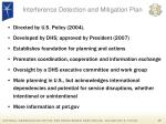 interference detection and mitigation plan