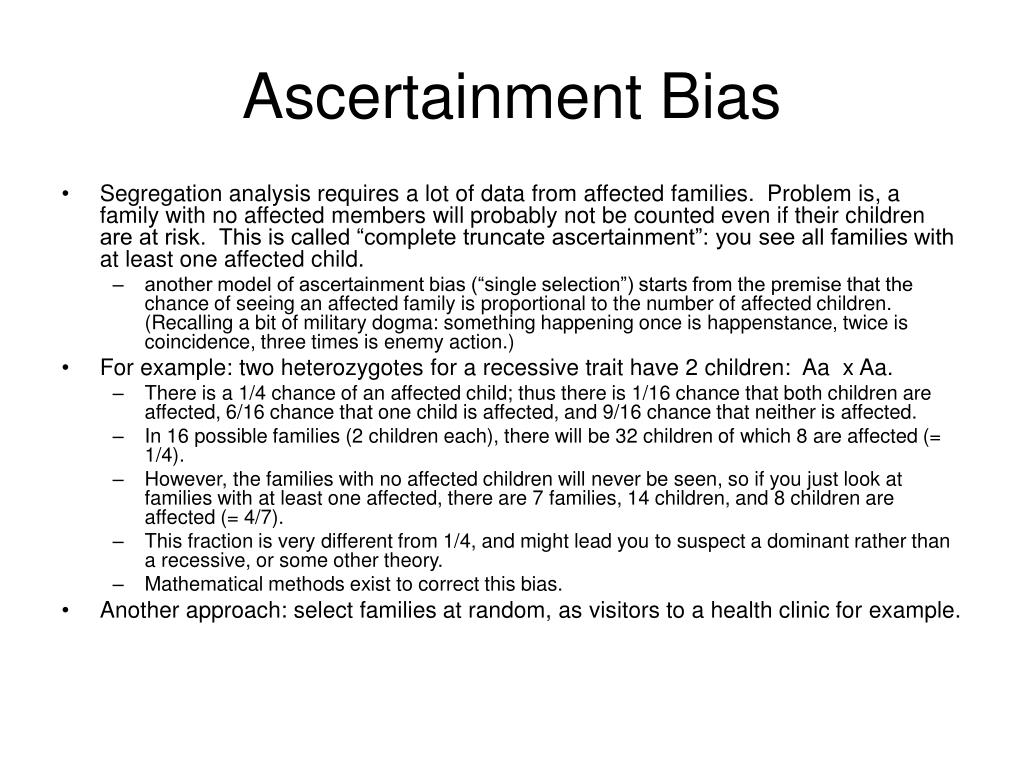 Ascertainment Bias
