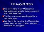the biggest affairs