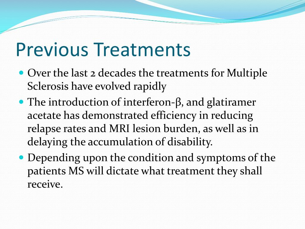 Previous Treatments