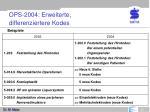 ops 2004 erweiterte differenziertere kodes