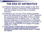 the era of antibiotics