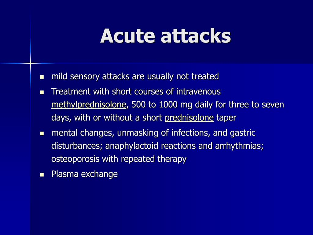 Acute attacks