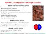 synthesis decomposition exchange reactions