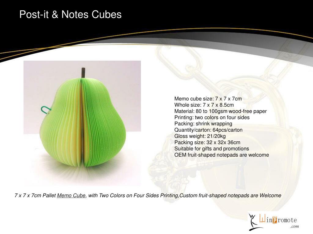 Post-it & Notes Cubes
