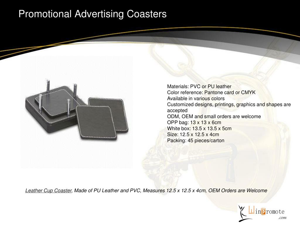 Promotional Advertising Coasters
