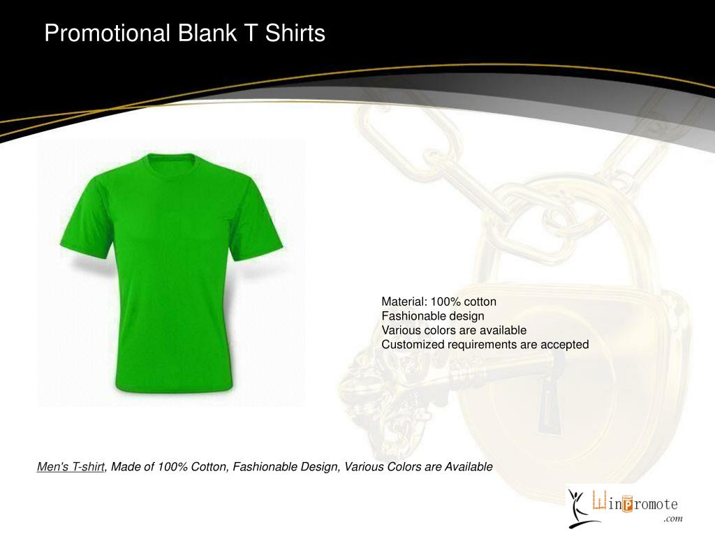 Promotional Blank T Shirts