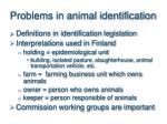 problems in animal identification