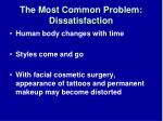 the most common problem dissatisfaction33