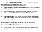 the jordan company section b problems to be treated now