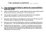 the jordan company section d alternatives