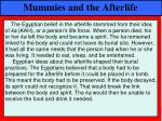 mummies and the afterlife