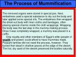 the process of mummification