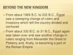 beyond the new kingdom