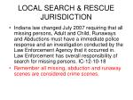 local search rescue jurisdiction