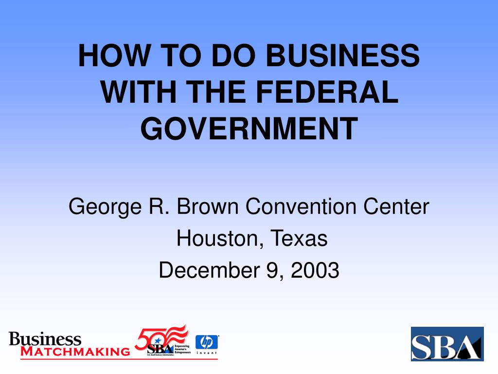 how to do business with the federal government l.