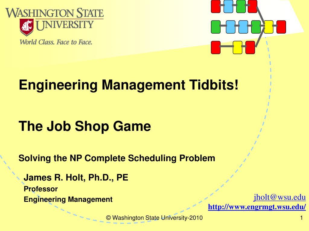 the job shop game l.