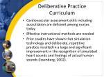 deliberative practice curriculum