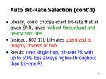 auto bit rate selection cont d