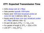 ett expected transmission time
