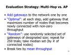 evaluation strategy multi hop vs ap