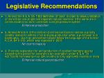legislative recommendations
