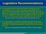 legislative recommendations29