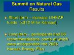 summit on natural gas results