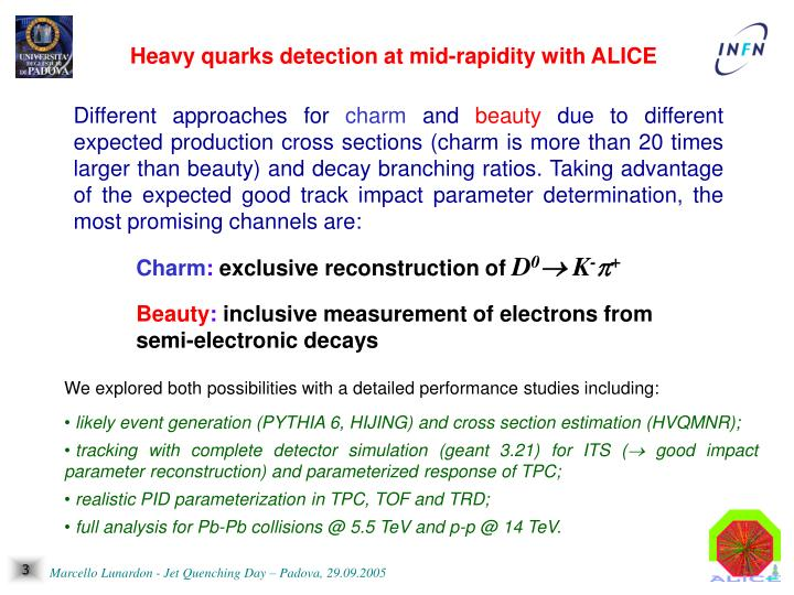 Heavy quarks detection at mid-rapidity with ALICE