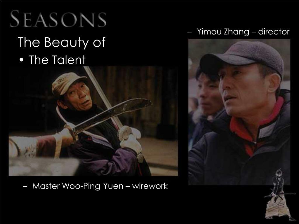 Yimou Zhang – director