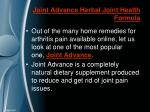 joint advance herbal joint health formula