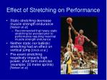 effect of stretching on performance