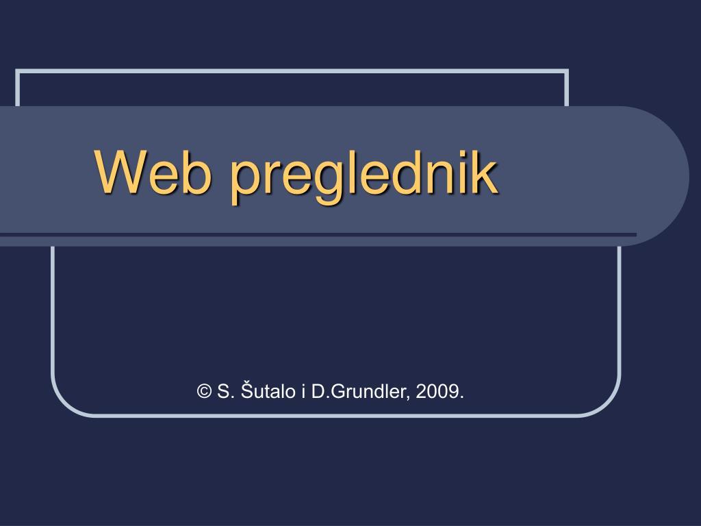 web preglednik l.