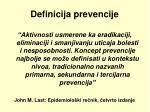 definicija prevencije