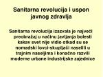 sanitarna revolucija i u spon javnog zdrav lja