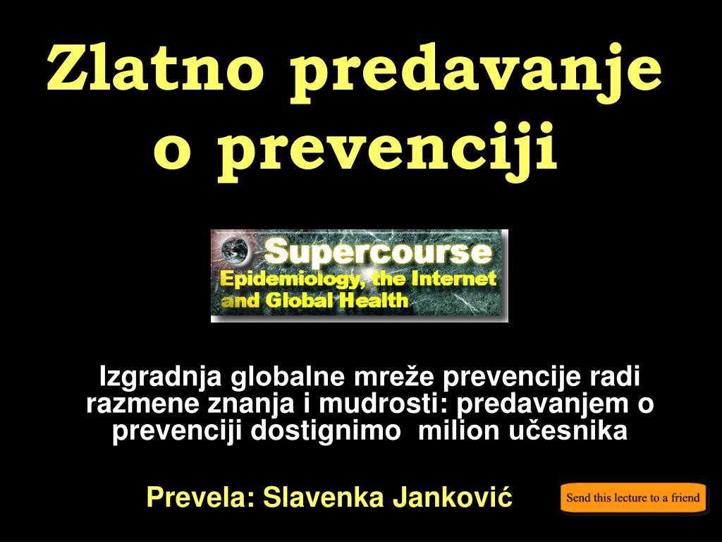 zlatno predavanje o prevenciji l.