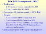 joint risk management jrm