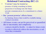 relational contracting rc 1