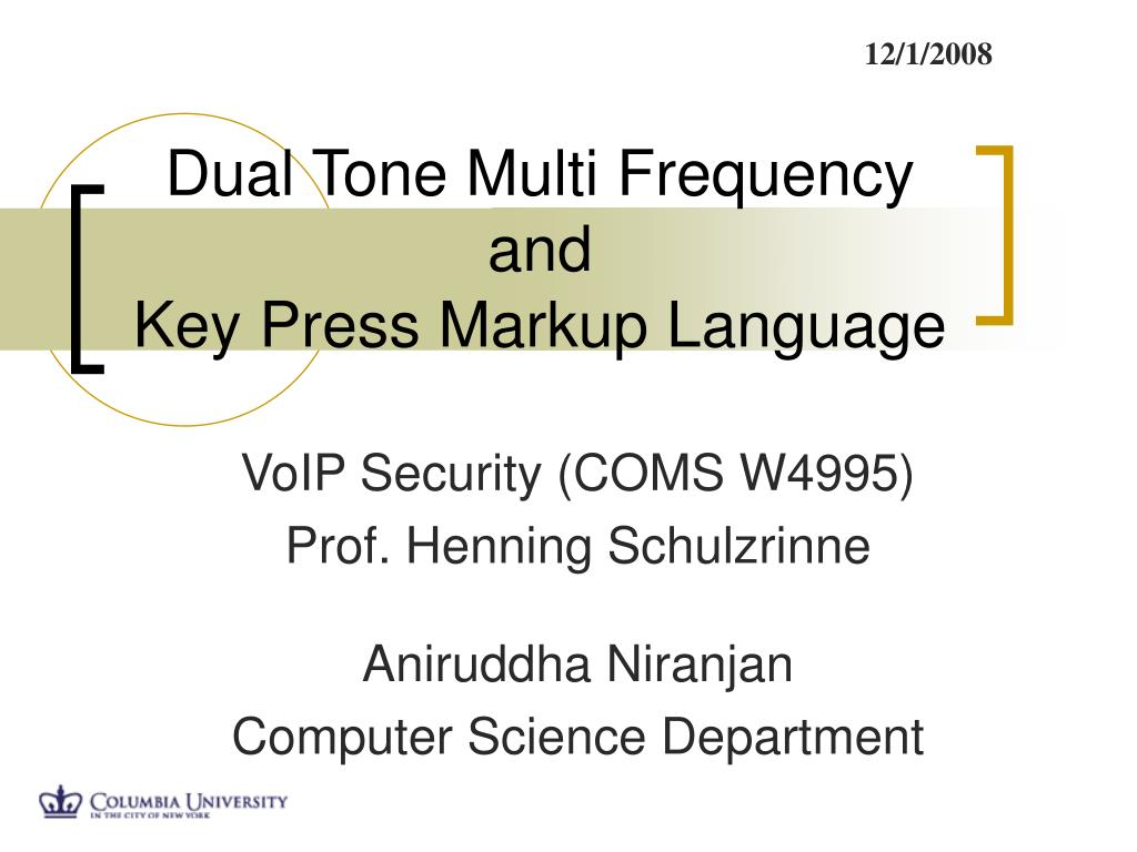 dual tone multi frequency and key press markup language l.